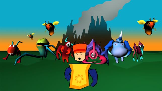 villager running from monsters